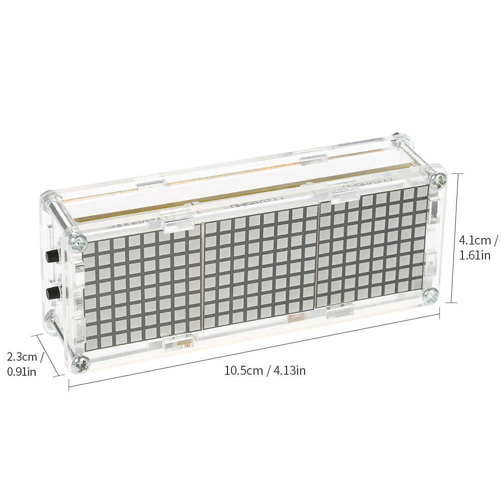 عالية الدقة Diy الرقمية نقطية LED المنبه عدة مع شفافة حالة درجة الحرارة التسجيل عرض الوقت