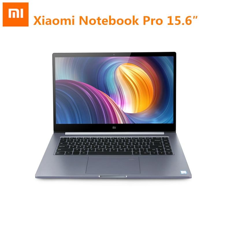 Ordinateur portable d'origine Xiao mi mi Pro 15.6 pouces Windows 10 Intel Core I5/I7 Quad Core 1.8 GHz 256 GB SSD reconnaissance d'empreintes digitales
