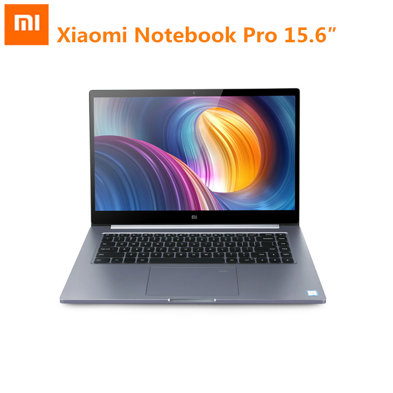 Original Xiao mi mi notebook pro De 15.6 pulgadas Windows 10 intel core I5 / I7 quad CORE Laptop 1.8 Ghz SSD DE 256 GB Reconocimiento de huellas dactilares