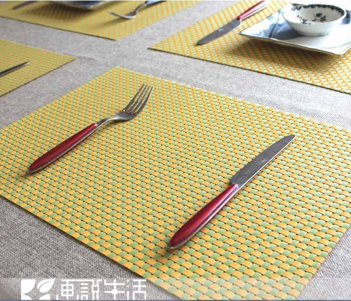 Fashion Plaid Pvc Placemat Coasters Dining Table Mat Heat Insulation Pad Western Pads Felt Mats Multi Purpose In From Home Garden