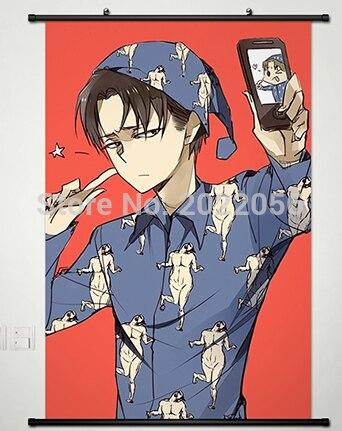 Anime Manga Shingeki No Kyojin Attack On Titan Dinding Scroll Painting 60x90cm Dinding Gambar Wallpaper Wall Pictures Picture Wallwall Scroll Anime Aliexpress