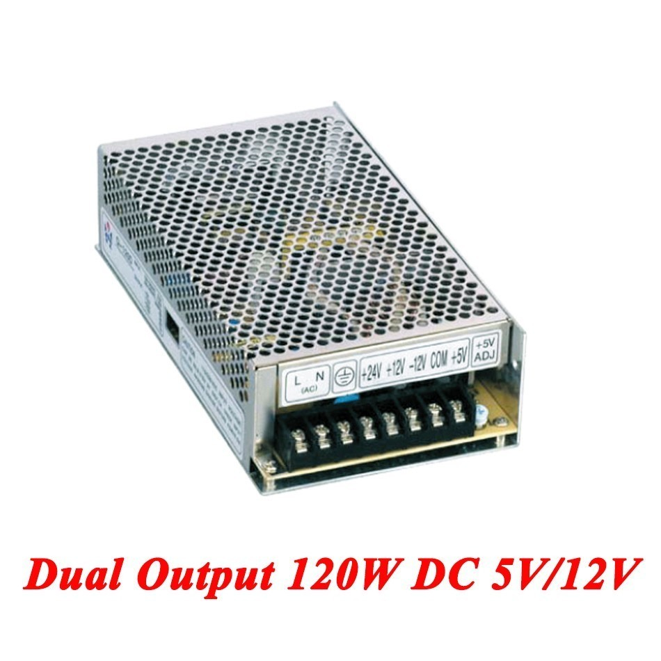 D-120A Switching Power Supply 120W 5V/12V,Double Output Watt Power Supply For Led Strip,AC110V/220V Transformer To DC,led Driver 1200w 12v 100a adjustable 220v input single output switching power supply for led strip light ac to dc