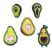 Cartoon Avocado enamel Pins Cute cat head Pink egg Lapel Brooches Horror grim Reaper Love shape nuclear Pin Badges Jewelry