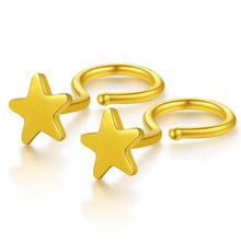 New Fashion Minimalist 18K Gold Star Stud Earrings For Women Tiny AU750 Star Earring Pendients Party Gifts недорого