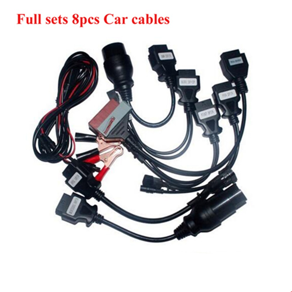 car <font><b>Adapter</b></font> Cables For cdp VD DS150E CDP <font><b>OBD2</b></font> OBDII Cars Diagnostic Interface Tool Full <font><b>Set</b></font> 8 Car Cables free shipping image