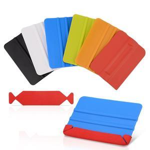 Image 4 - Foshio 20pcs 비닐 랩 카드 스퀴지 스페어 3 레이어 방수 패브릭 가장자리 자동차 창 색조 스크레이퍼 천 탄소 섬유 수호자