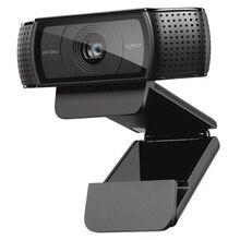 Logitech Webcam HD Pro C920e, caméra 1080p, appels et enregistrements vidéo sur écran large, Webcam de bureau ou dordinateur portable, version mise à niveau C920