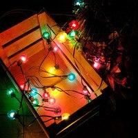 25ft 25pcs LED G40 Bulb Globe String Lights Colorful Globe Bulbs Christmas Wedding Patio Backyard Party Garland Lamp AC110 265