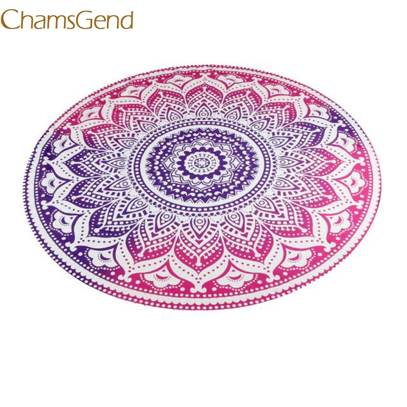 2017 NEW scarves spring summer Round Beach Pool Home Shower Towel Blanket Table Cloth Yoga Mat TOP quality feb24