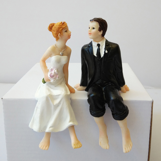 Fashion Resin Wedding Cake Toppers Decorations Bride And Bridegroom Figurine Topper Decor Best Valentine S Day