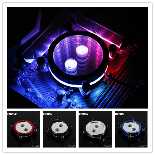 Barrow CPU cooler for INTEL SOCKET LGA 115X ( 1150 1151 1155 1156 ) 2.0 5v rgb light water cooling with controller LTFHB 04N V2-in Fans & Cooling from Computer & Office    1