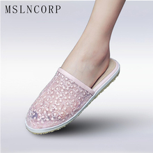 цены Size 34-43 Summer Women Slippers Fashion Breathable Hollow Mesh Air Casual Shoes Comfortable Slip-on Flat Slides Zapatos Mujer