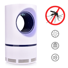 USB Powered Electronic Mosquito Killer Pest Repeller Non-Toxic UV Ultraviolet LED Trap Lamp Light Control Super Silent
