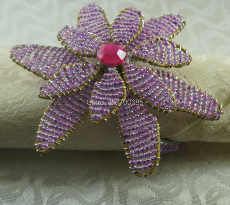 wedding napkin rings beads decoration cheap napkin holder in napkin