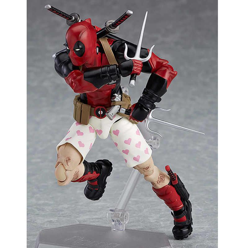 Vingadores Brinquedos EX-042 Deadpool Figuras Anime Conjunto móvel Action Figure Super Hero 16 cm PVC Modelo Boneca de Brinquedo com Caixa de Presente para Crianças