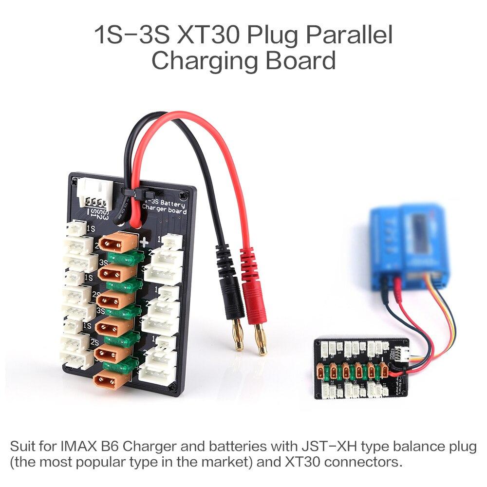 1-3 S XT30 Plug li-po batterie carte de charge parallèle 6 pcs XT30 mâle à JST câbles femelles pour IMAX B6 chargeur RC pièces de batterie 5
