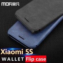 Xiaomi Mi 5S чехол Флип кожаный чехол MOFI ультра тонкие гладкие ощупь xio Mi 5S кошелек Чехол Слот для карты принципиально Роскошные 5S 5.15in