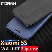 xiaomi mi 5s case flip leather cover mofi ultra thin smooth hand feeling xiomi mi5s wallet case card slot funda luxury 5s 5.15in