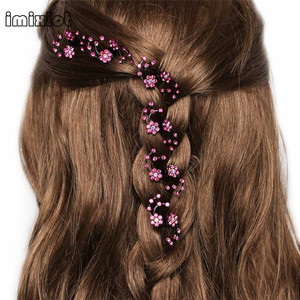 Imixlot 2017 New Arrival Promotion Plant Trendy 6pcs/pack Wedding Bridal Women Mini Headwear Snowflake Clips Flower Accessories