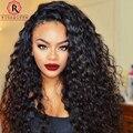 Фронта шнурка Человеческих Волос Парики Для Чернокожих Женщин 250% Высокая Плотность полное Кружева Парики Человеческих Волос С Волосами Младенца Бразильский Свободные Вьющиеся парик