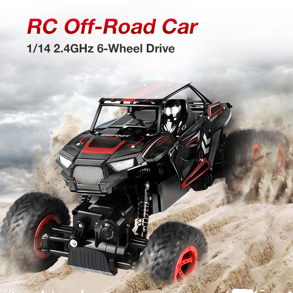 RC Toys for Children D819 1 14 2 4GHz 6WD RC Rock Crawler Buggy Climbing Off