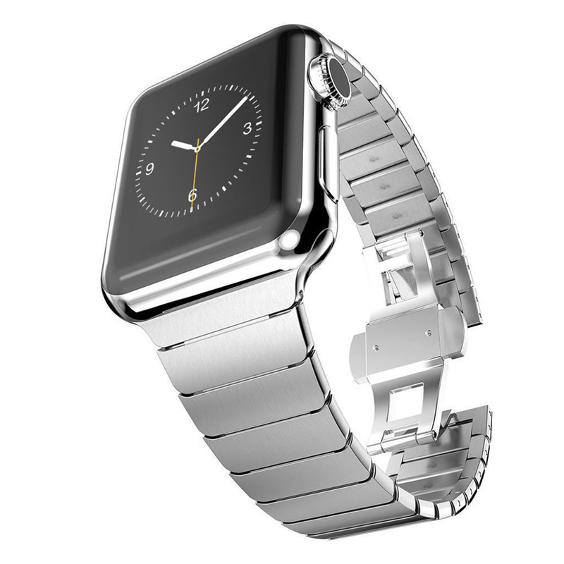 Series 4 Stainless Steel Bracelet for Apple Watch band Butterfly Buckle Metal Strap 38mm/42mm 40MM 44MM for iwatch Series 4 3 2 diamond stainless steel band for apple watch 38mm 42mm series 3 2 1 replacement strap band for iwatch with butterfly buckle
