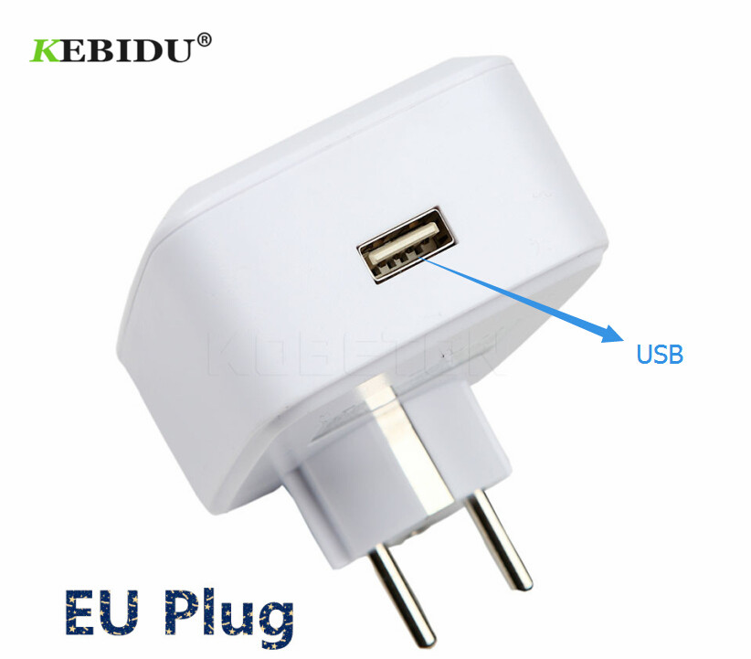 Kebidu Smart Power Socket Remote Wifi Plug Timer Switch For Iphone For Xiaomi Android Enchufe Interruptor Wifi Domotica Eu Us Chargers