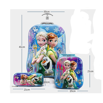 Hot 3PCS/set 3D Unicorn Travel Suitcase