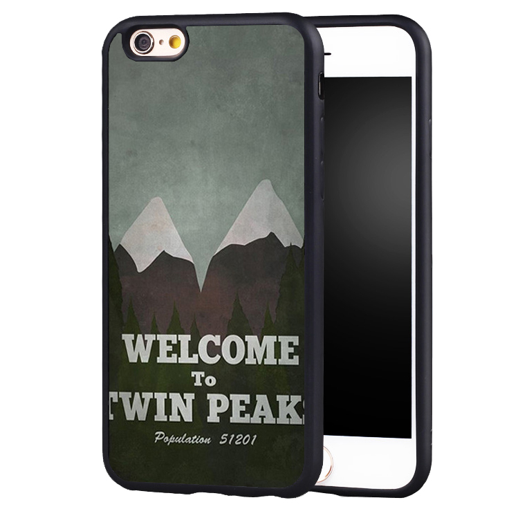Welcome Twin Peaks Soft Silicone Full Protective case Cover For iPhone X 8 7 7Plus 6 6S Plus 5 5S SE