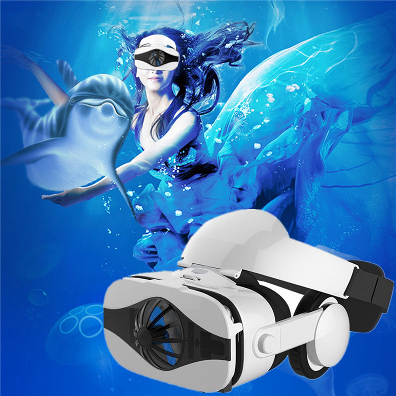 2018 New VR with Headphone Console Set Virtual Reality Glasses for 3D Movies Video Games VR Goggles Headset Gafas-3D HD Lenses image