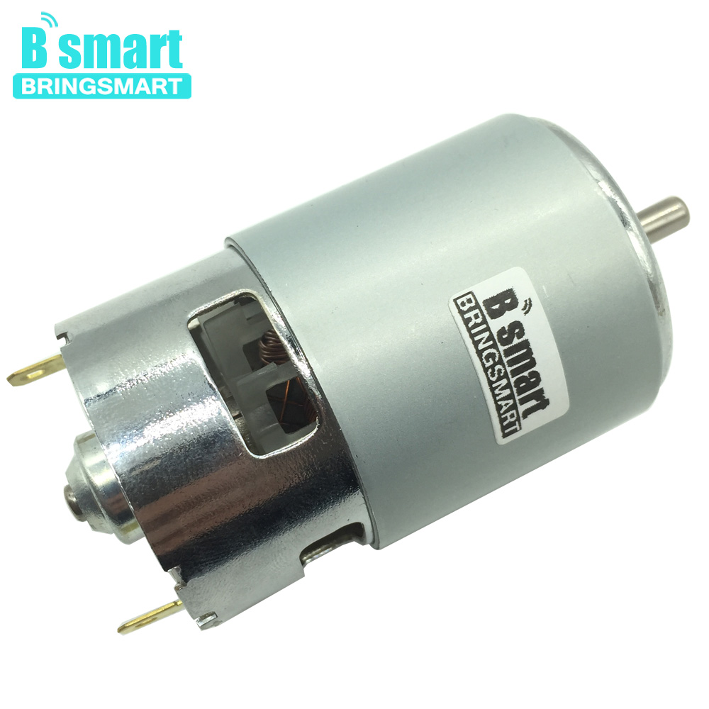 BringSmart 775 motor 12V DC motor 24Volts High speed Engine Low Noise Micro Durable Electric Motor High Torque motors aiyima all new 310 dc micro motor 12v gear motor low speed high torque low noise totally enclosed pass technical testing