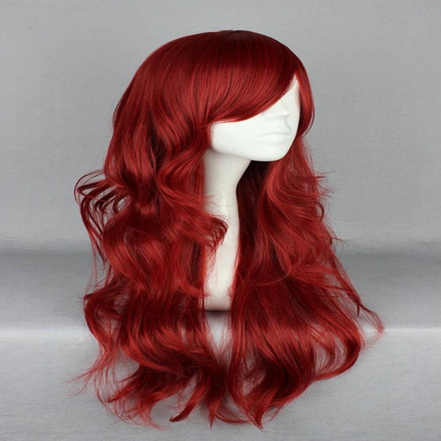 HAIRJOY Synthetic Hair Zipper 70cm Long Wavy Harajuku Lolita Cosplay Wig 18 Colors Available 108