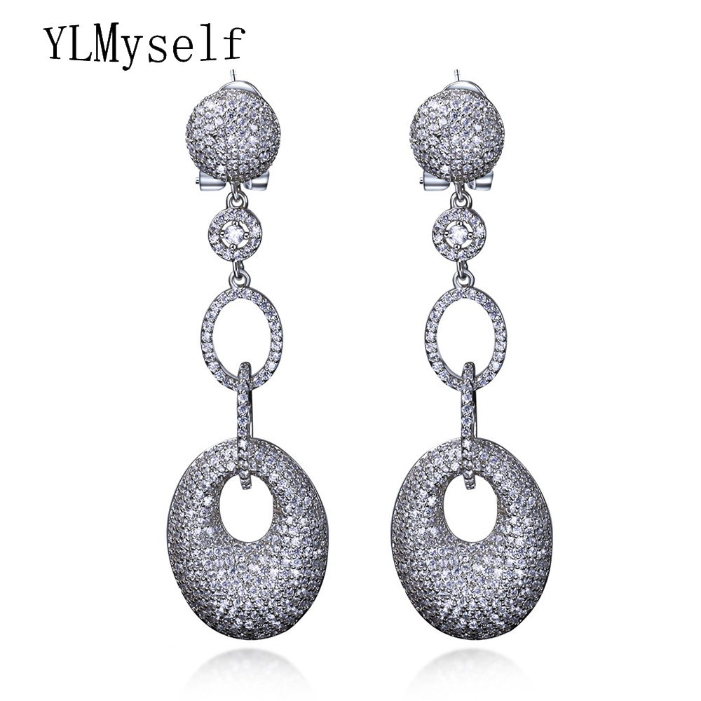 67mm Long Big Drop Earrings Professional Party Jewelry