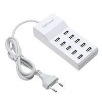 רכזת USB במהירות גבוהה 10 יציאות 5 V AC מטען רצועת מתאם כוח USB נייד מתאם עבור בית משרד נסיעות האיחוד האירופי/ארה