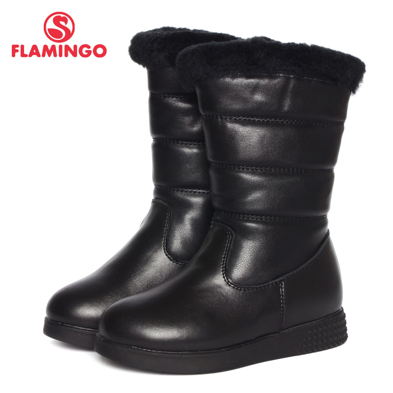 FLAMINGO 2016 new collection winter fashion boots with wool high quality anti-slip kids shoes for girls W6YK021 flamingo 2016 new collection winter fashion boots with wool high quality anti slip kids shoes for girls w6yk041