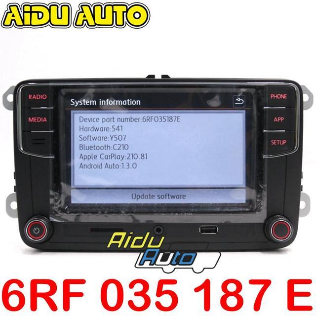 6RF 035 187 E CarPlay Android の自動 RCD330 RCD340 プラス Noname ラジオ 6RF035187E
