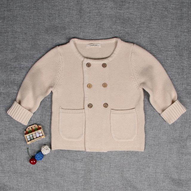 2016 Novo bebê outono inverno infantil menina camisola criança malha sólida jaqueta casaco bebê outerwear crianças cardigan sweaters
