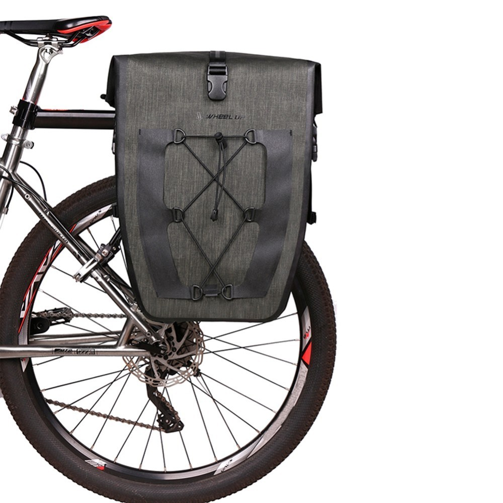Wheel Up Mountain Bike Bicycle Rear Carrier Bag Trunk Pannier Pack 27L Larger Capacity Cycling Carry Bag Pannier набор велосипедных сумок thule pack n pedal shield pannier размер l салатовый 2 шт 100063