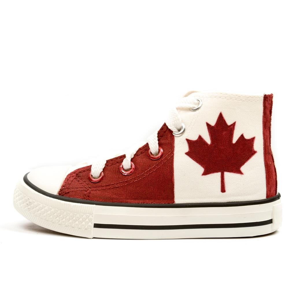 best website c0ed7 2571f Canadian National Canada Scarpe Foglia D'acero Rosso Dipinto ...