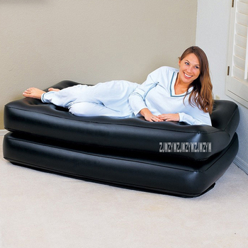 Multifunctional Inflatable Sofa 2-People Portable Inflatable Sofa Bed Home Adult Folding Lazy Sofa With Household Electric Pump