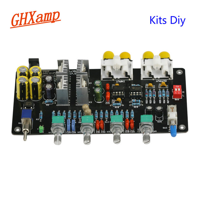 GHXAMP Kits Vorverstärker Ton audio board NE5532 Preamp HIFI Pre amp Baord Höhen, MID, bass Volumen Control Filter Schaltung