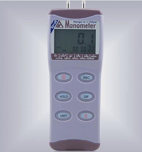 Digital Manometer AZ-82100 Digital Pressure Gauge Pressure Meter Differential Pressure Meter 0-100 psi AZ82100