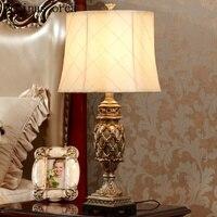Американские антикварная классический смолы настольная лампа гостиная ночники французской классической декоративная настольная лампа бе