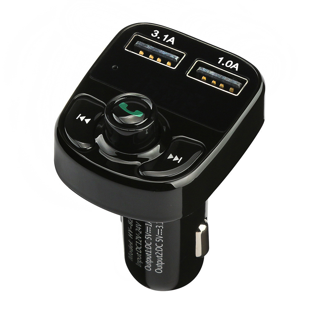 US $12.11 25% OFF|Handsfree Car Charger Bluetooth FM Transmitter Music Adapter Dual USB Port Charger Compatible For Iphone Samsung Xiaomi Roidmi|fm
