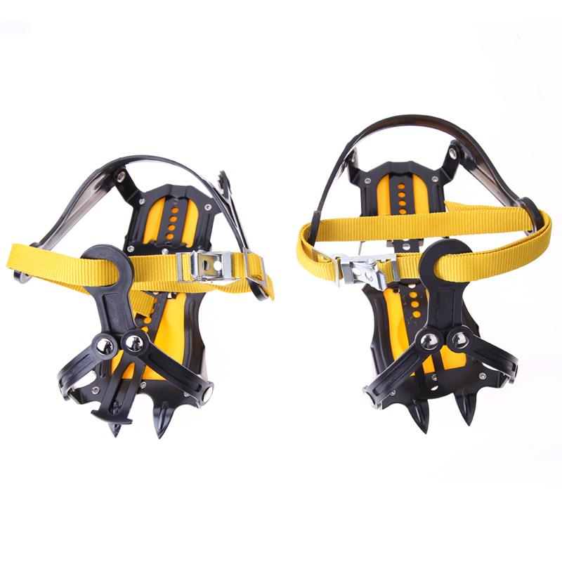 1 Pair Non-Slip Ice Crampons Professional Manganese Steel Ice Gripper Ice Crampons Snow Board For Skiing Climbing 1 pair ice gripper slipproof strong ice crampons skiing crampons shoes snow walker for snow mountain climbing walking bag