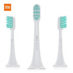 Оригинальный Xiaomi 3 шт. Mijia Sonic Электрический Зубная щётка головок 3D высокой плотности гибкая головка щетки высокоэффективного чистке Уход за...