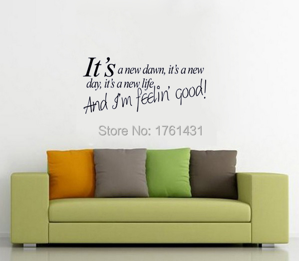 And Iu0027m feeling good wall art  sc 1 st  AliExpress.com & Itu0027s a new down....And Iu0027m feeling good wall art decals quote home ...