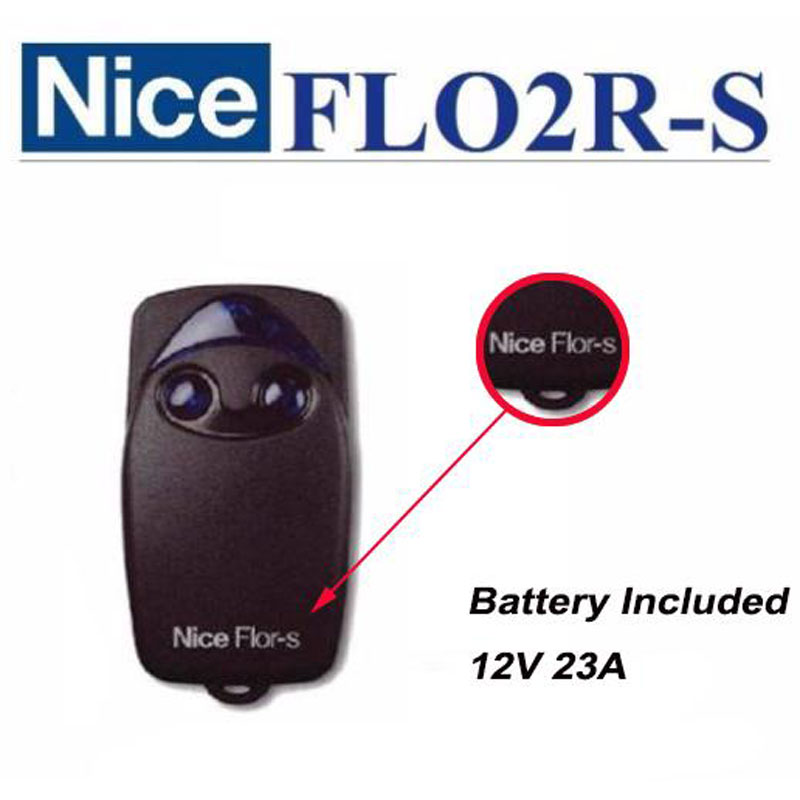 Wholesale DHL shipping --100pcs Nice FLO2R-S compatible rolling code transmitter automatic door /garage door remote control nice flo2r s replacement garage door transmitter free shipping