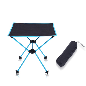 Image 4 - Outdoor picnic table camping portable aluminum folding table Oxford cloth waterproof ultra light travel desk furniture 4 color