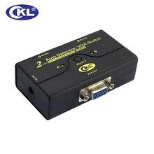 2017 New CKL-21A 2 Port Auto VGA Switch 1 Monitors 2 Computers Switcher